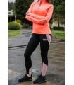 Calza Larga Dama -Color Negro con rosado